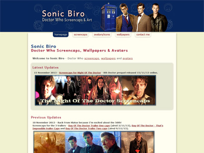 Sonic Biro - Doctor Who Image Galleries