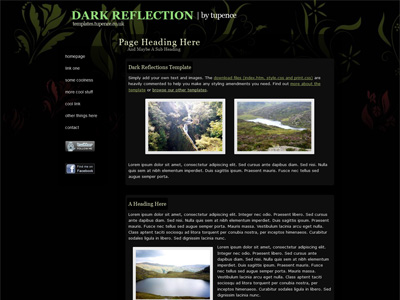 Dark Reflections template